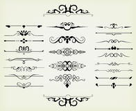 Éléments calligraphiques de conception illustration libre de droits