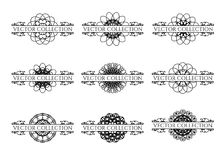 Éléments calligraphiques de conception Photo stock