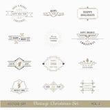 Éléments calligraphiques de conception de Noël Images libres de droits