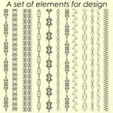 Éléments calligraphiques 2 de conception - ensemble de vecteur Illustration de vecteur Images libres de droits