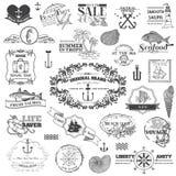 Éléments calligraphiques de mer nautique Photo stock