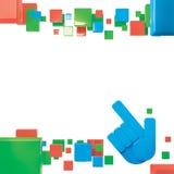 éléments colorés illustration de vecteur