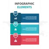 Éléments colorés abstraits d'Infographics d'affaires de flèche et de label, illustration plate de vecteur de conception de calibr illustration de vecteur