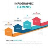 Éléments colorés abstraits d'Infographics d'affaires de flèche, illustration plate de vecteur de conception de calibre de présent illustration de vecteur