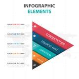 Éléments colorés abstraits d'Infographics de chronologie d'affaires de triangle, illustration plate de vecteur de conception de c illustration de vecteur