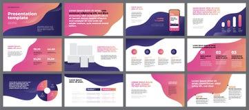 Éléments colorés de calibres de présentation Infographics de vecteur ENV 10 illustration libre de droits