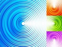 Éléments colorés de cercle concentrique 4 lumineux, Co vive et vibrante illustration de vecteur