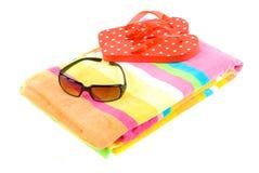 Éléments colorés de plage Images libres de droits