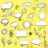 Éléments comiques de dessin animé Image stock
