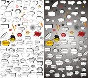 Éléments comiques. Paquet méga. photo stock