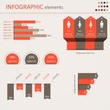 Éléments conceptuels d'Infographic Photographie stock