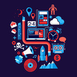 Éléments créatifs de conception Images libres de droits