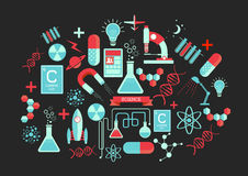 Éléments créatifs de la Science illustration stock