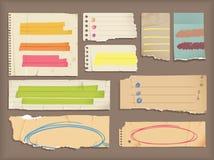 Éléments déchirés de papier et de point culminant illustration stock