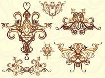 Éléments décoratifs Image libre de droits