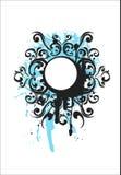 Éléments décoratifs bleus Images libres de droits