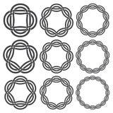 Éléments décoratifs circulaires pour la conception Photographie stock