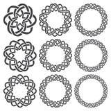Éléments décoratifs circulaires pour la conception Photos stock