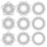 Éléments décoratifs circulaires pour la conception Photos libres de droits