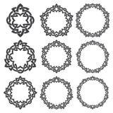 Éléments décoratifs circulaires pour la conception Photo libre de droits