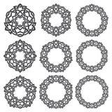 Éléments décoratifs circulaires pour la conception Images libres de droits