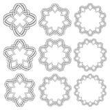 Éléments décoratifs circulaires pour la conception Photographie stock libre de droits