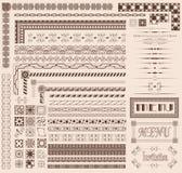 Éléments décoratifs de cadre Image stock