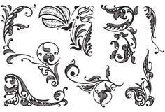 Éléments décoratifs de conception Photo stock