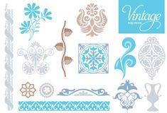 Éléments décoratifs de cru Photographie stock libre de droits