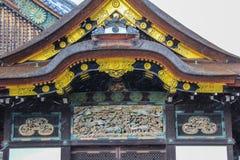 Éléments décoratifs de façade de palais de Ninomaru image libre de droits