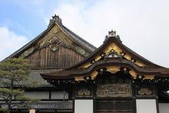 Éléments décoratifs de façade de palais de Ninomaru photographie stock