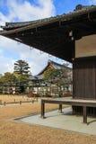 Éléments décoratifs de façade de palais de Ninomaru photos libres de droits