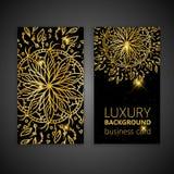 Éléments décoratifs de mandala d'or réglé de carte de visite professionnelle de visite Éléments décoratifs de cru L'Islam, l'arab Image stock