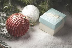 Éléments décoratifs de Noël Photo libre de droits
