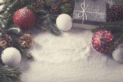 Éléments décoratifs de Noël Photos libres de droits