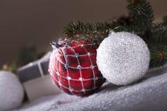Éléments décoratifs de Noël Image libre de droits