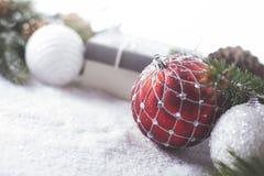 Éléments décoratifs de Noël Photo stock