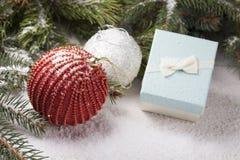 Éléments décoratifs de Noël Photographie stock libre de droits