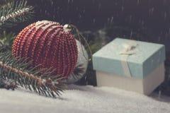Éléments décoratifs de Noël Photographie stock