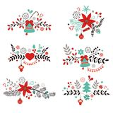 Éléments décoratifs de Noël et de nouvelle année Photo stock