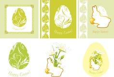 Éléments décoratifs de Pâques pour la conception Photographie stock libre de droits