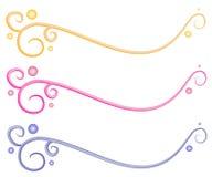 Éléments décoratifs de page Web Photos stock