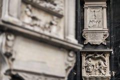 Éléments décoratifs extérieurs de la cathédrale de St Stephen photos libres de droits