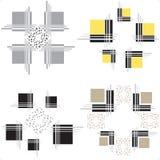 Éléments décoratifs - illustration courante Photo libre de droits