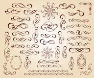Éléments décoratifs Illustration de vecteur Beige de Brown Image libre de droits