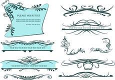 Éléments décoratifs - lignes et frontières Images stock