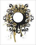 Éléments décoratifs ocres Photographie stock