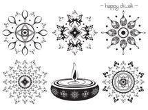 Éléments décoratifs pour la conception de diwali Photographie stock libre de droits