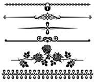 Éléments décoratifs - roses Image stock