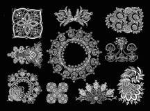 Éléments décoratifs - style de dentelle Photographie stock libre de droits